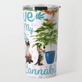 Love My Cats and Cannabis Travel Mug