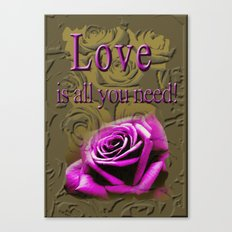 All you need ! Canvas Print