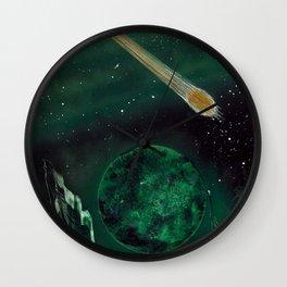 Copper Colored Comet Cometh Wall Clock