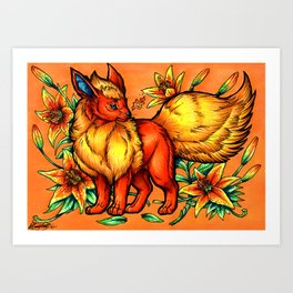 Evolve the Rainbow - Flareon Art Print