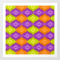 A retro ogee print for a step back in time Art Print