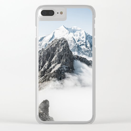 With My Head Above The Clouds Clear iPhone Case