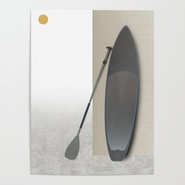 Stand Up Paddle Board Art Print Poster