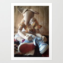 Miss Mouse has New Shoes! Art Print