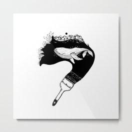 Inktober whale Metal Print