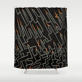 Dark factory Shower Curtain