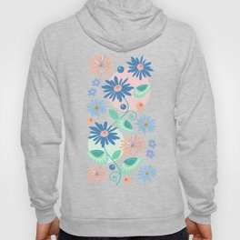 Decorative flowers and leaves Hoody