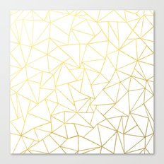 Ab Outline White Gold Canvas Print
