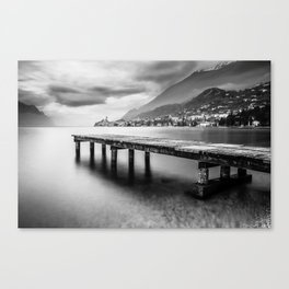 Sunset in Malcesine, Lake Garda Canvas Print