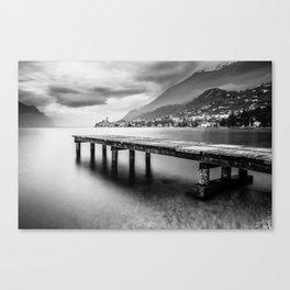 Sunset in Malcesine, Lake Garda Canvas Print