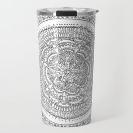Realizing on White Background Travel Mug