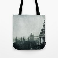 london Tote Bags featuring London by Ingrid Beddoes