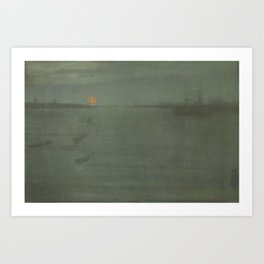 James Abbott McNeill Whistler - Nocturne Blue and Gold: Southampton Water Art Print