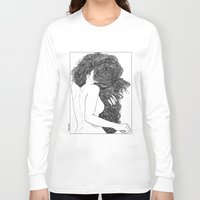 apollonia Long Sleeve T-shirts featuring asc 590 - Le peigne (Combing her hair) by From Apollonia with Love