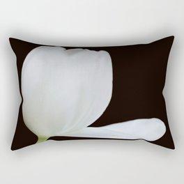 Artistic white tulip Rectangular Pillow