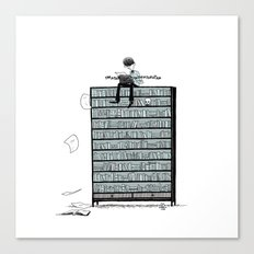 LITTLE DREAMS, BIG BOOKCASE Canvas Print