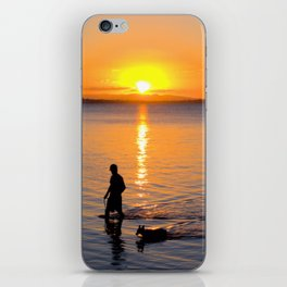 Wading in the Sunset iPhone Skin