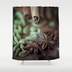 Chai Spices Shower Curtain