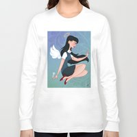 downton abbey Long Sleeve T-shirts featuring Abbey by Katherine Galo