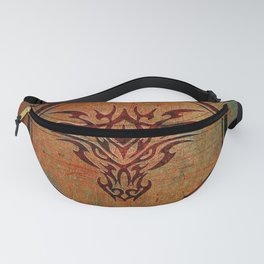 Tribal Dragon Head In Octagon With Dragon Chinese Characters Fanny Pack
