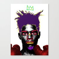 basquiat Canvas Prints featuring Basquiat by Kibwe Maono