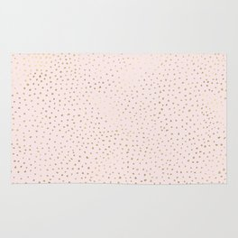 Dotted Gold & Pink Rug