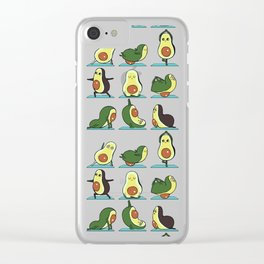 Avocado Yoga Clear iPhone Case