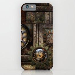 Steampunk, wonderful clockwork with gears iPhone Case