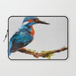Kingfisher - watercolor (signed) Laptop Sleeve