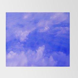 Aerial Blue Hues III Throw Blanket