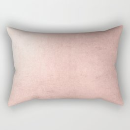 Blush Rose Gold Ombre Rectangular Pillow