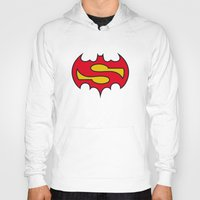 comic Hoodies featuring Superbatman comic by victimArte