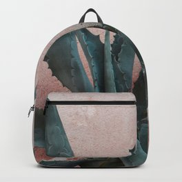 Pink Blue Cactus Backpack