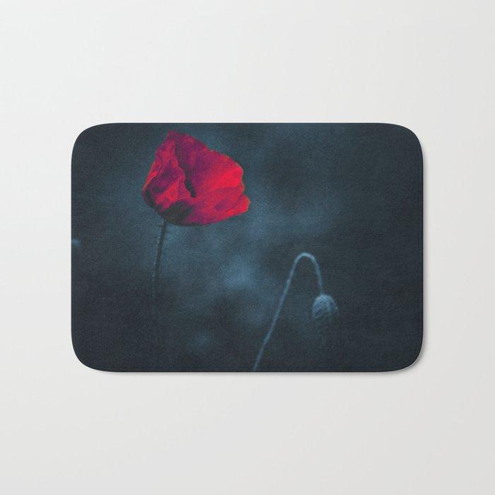 niGht blOOm - dark Poppy Bath Mat