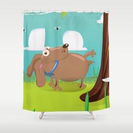 Harold the dog Shower Curtain