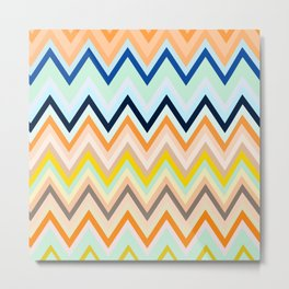 Colorful chevron Metal Print