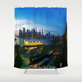 New York City as viewed from the Beautiful Brooklyn Heights Shower Curtain