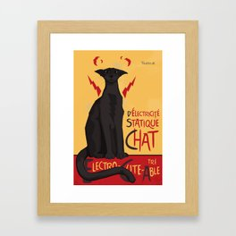 d'Electricité Statique Chat [Staticat] Framed Art Print