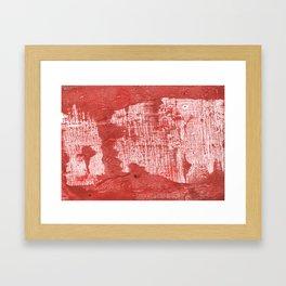 Indian red blurred wash drawing design Framed Art Print