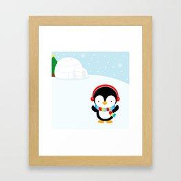 Cute penguin boy #2 Framed Art Print