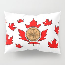 Canada Cannabis - 1 Cent Maple Leaf Pillow Sham