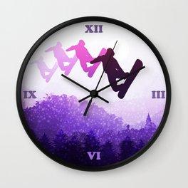 Snowboard Skyline IV Wall Clock