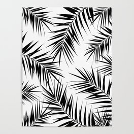 Palm Leaves Cali Finesse #3 #BlackWhite #tropical #decor #art #society6 Poster
