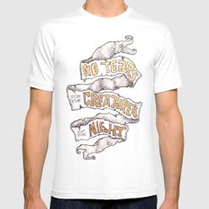 No Tears for the creatures of the Night MEDIUM Mens Fitted Tee White