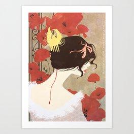 SnowWhite - the comb Art Print