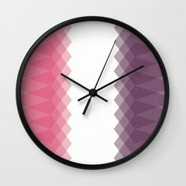 Red Pentagons Wall Clock