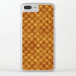 Quilted Dusty Orange Velvety Pattern Clear iPhone Case