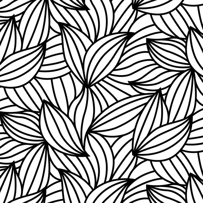 Abstract Lines Pattern Design 2 - Leaf Leggings