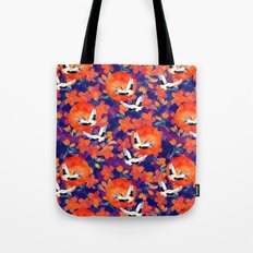 Japanese Garden: Cranes, Sun and Blossoms DK Tote Bag