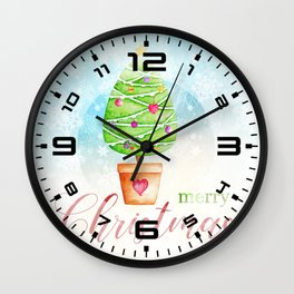 Merry Christmas tree #1 Wall Clock